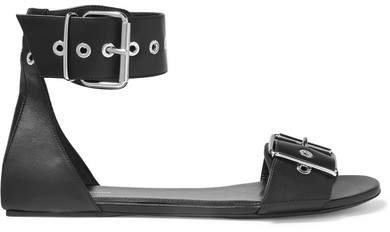 Belt Leather Sandals - Black