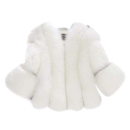 fluffy faux fur coat white - Google Search