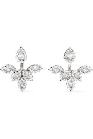 YEPREM   18-karat white gold diamond earrings   NET-A-PORTER.COM