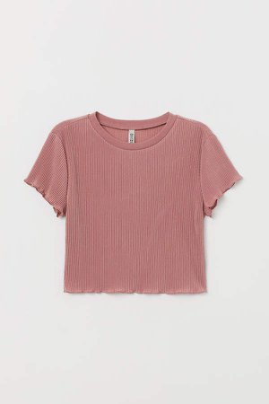 Pleated Jersey Top - Pink