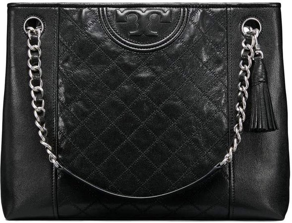 FLEMING DISTRESSED LEATHER TOTE