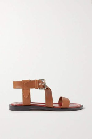 Aria Leather Sandals - Tan