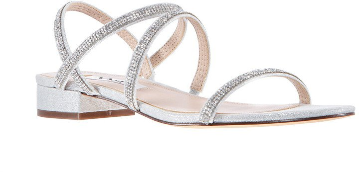 Swan Embellished Strappy Sandal