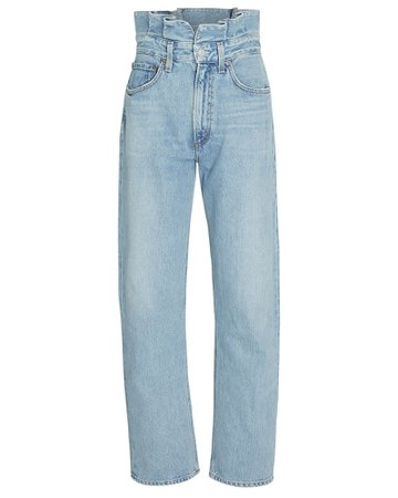 AGOLDE Lettuce Waist Wide-Leg Jeans | INTERMIX®