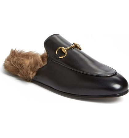 Gucci 'Princetown' Genuine Shearling Loafer Mule (Women) | Nordstrom