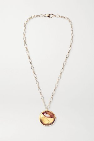 Gold Jaja and The Pearl gold-plated pearl necklace | Alighieri | NET-A-PORTER