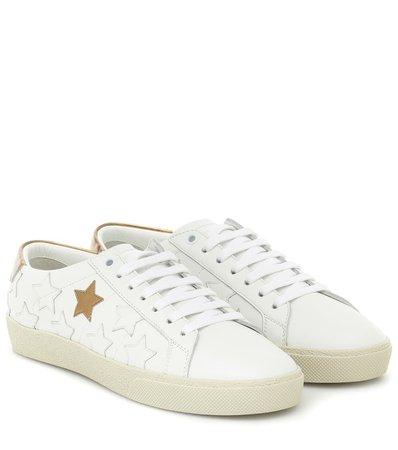 Court Classic Leather Sneakers - Saint Laurent   Mytheresa