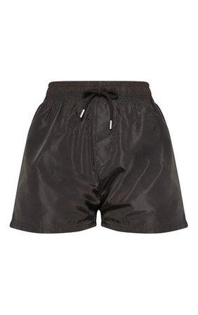 Black Shell Short | Shorts | PrettyLittleThing USA