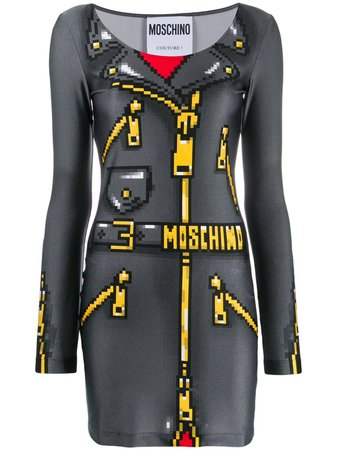 Moschino pixel-effect mini dress $795 - Buy Online AW19 - Quick Shipping, Price