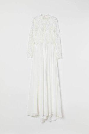 Lace Wedding Dress - White