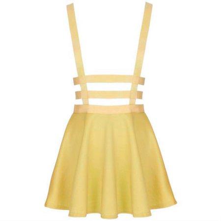 Suspender Skirt Yellow (Edit)