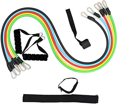 SoloVie Exercise and Resistance Bands Set Workout With Handles Ankle Straps Door Anchor Resistance Tubes Set for Indoor and Outdoor Sports Fitness Suspension Speed Strength Baseball Softball Training Home Gym Yoga, Exercise Bands - Amazon Canada