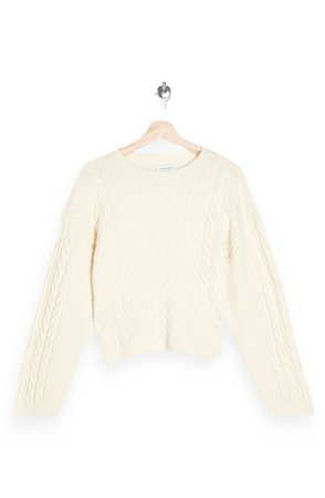 Topshop Cable Stitch Crop Sweater | Nordstrom
