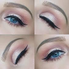 Icy Blue eyes with eyeshadow