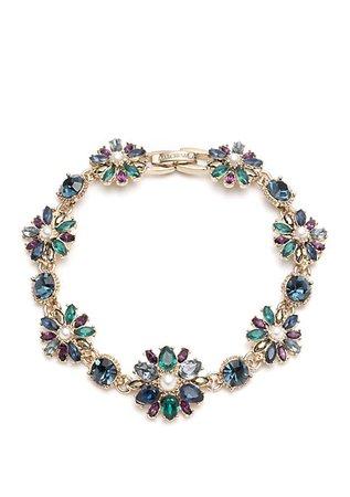 Marchesa Gold Tone Blue Multi Flex Bracelet