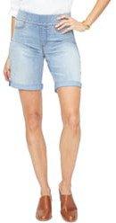 Roll Cuff Pull-On Denim Shorts