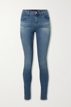 Maria High-rise Skinny Jeans - Mid denim