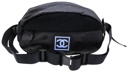 Chanel Cc Sports Logo Bum Fanny Pack 232647 Black Vinyl Cross Body Bag - Tradesy