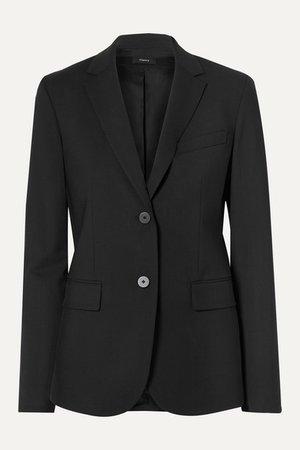 Classic Stretch-wool Blazer - Black