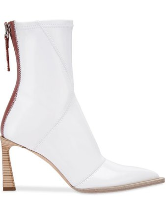 Fendi FFrame structured heel ankle boots - FARFETCH