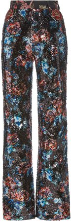 Rodarte Sequined Straight-Leg Trousers
