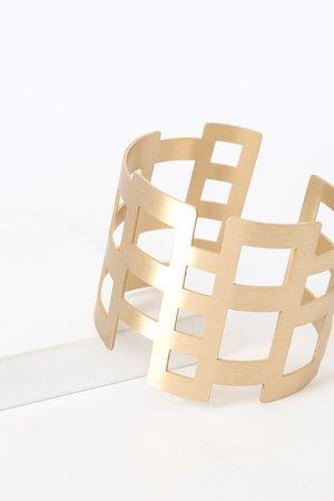 Cute Gold Bracelet - Cuff Bracelet - Geometric Bracelet