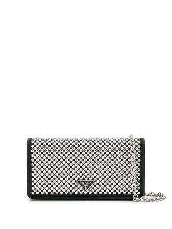 Prada crystal embellished wallet on chain £867 - Fast Global Shipping, Free Returns
