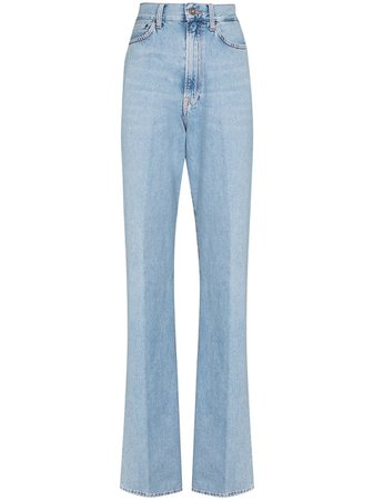 Shop Made in Tomboy Erica high rise straight leg jeans with Express Delivery - FARFETCH