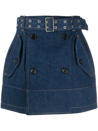 Junya Watanabe belted-waist Denim Skirt - Farfetch