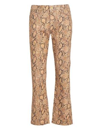 Le High Coated Python-Print Jeans