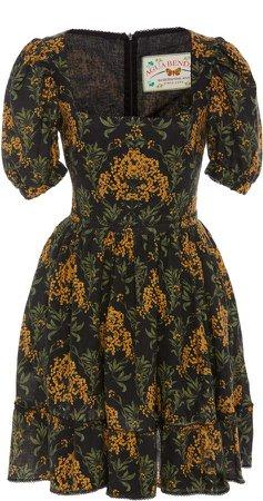 Agua by Curuba Floral-Printed Linen Mini Dress