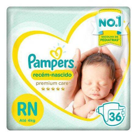 Fraldas Pampers Recém-nascido Premium Care Rn 36 Unidades nas Lojas Americanas.com