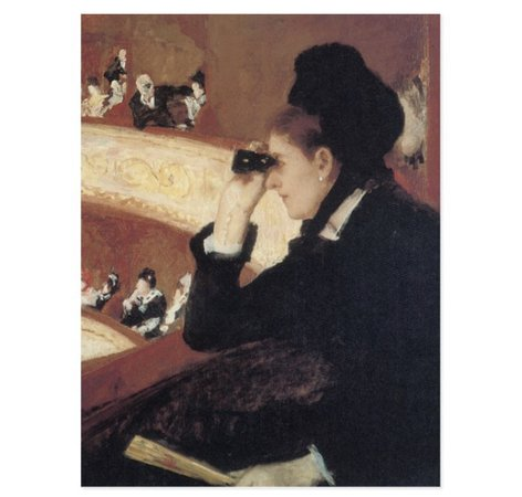 The Opera/The Luge by Mary Cassatt, Vintage Impressionism Postcard