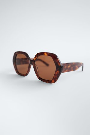 HEXAGONAL ACETATE SUNGLASSES | ZARA Greece / Ελλαδα