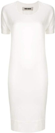 Short-Sleeve Midi Dress