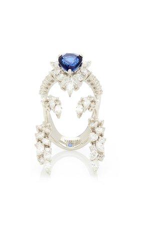 Yeprem 18K White Gold Reign Supreme Ring Size: 7.75