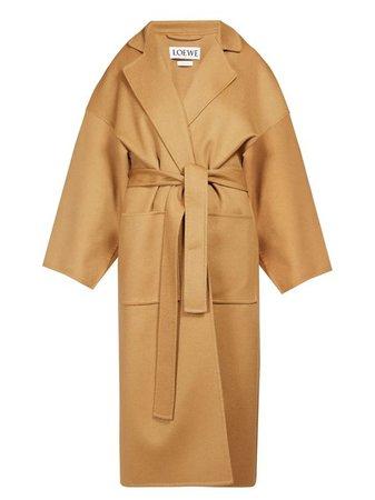 Piacenza oversized belted cashmere coat   Loewe   MATCHESFASHION.COM KR