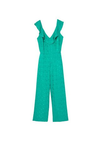 MANGO Appliqué cut-out jumpsuit