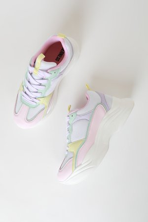 Multicolor Pastel Sneakers - Chunky Sneakers - Fashion Sneakers