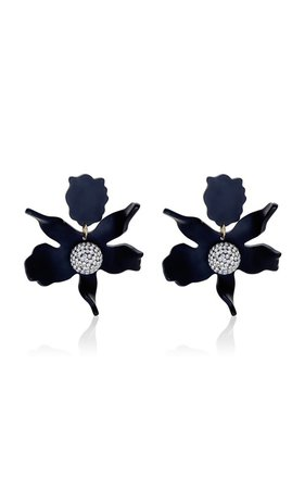 Lily Crystal-Embellished Acetate Earrings by Lele Sadoughi | Moda Operandi