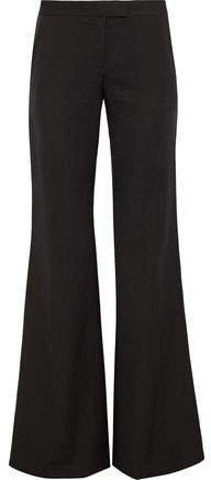 Wool-twill Wide-leg Pants