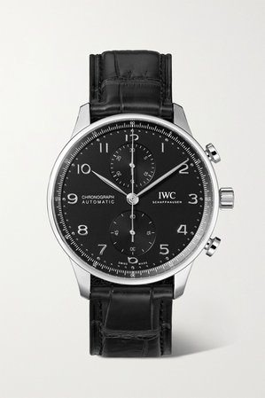 Silver Portugieser Automatic Chronograph 41mm stainless steel and alligator watch | IWC SCHAFFHAUSEN | NET-A-PORTER