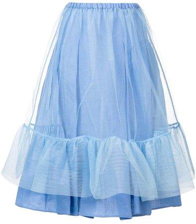 high-waisted tulle skirt
