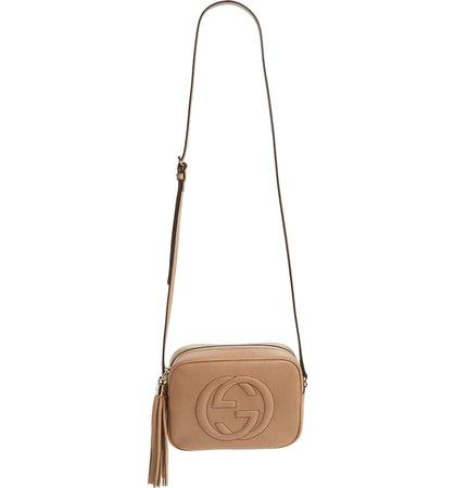 Gucci Soho Disco Leather Bag Camel