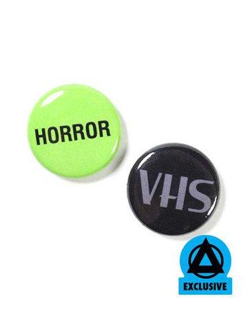 Horror VHS Pinback Button Set – Strange Ways