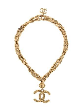 Chanel Pre-Owned Collana a Catena Doppia 1988 CC - Farfetch