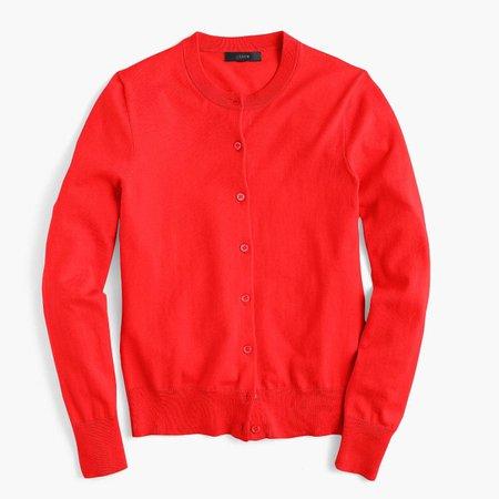 J.Crew red cardigan