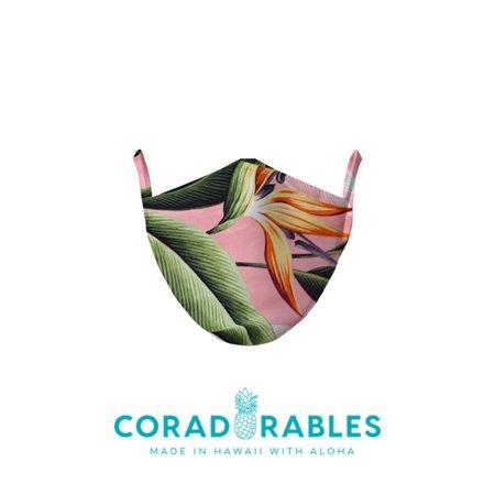 birds of paradise mauve face mask