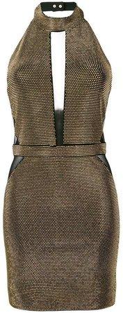 fitted halterneck dress