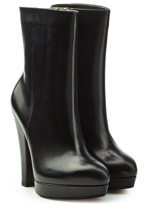 Leather Boots with Platform Gr. EU 37